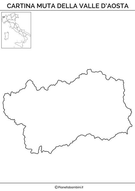 cartina muta italia cartina muta valle aosta 176 geografia pinterest school