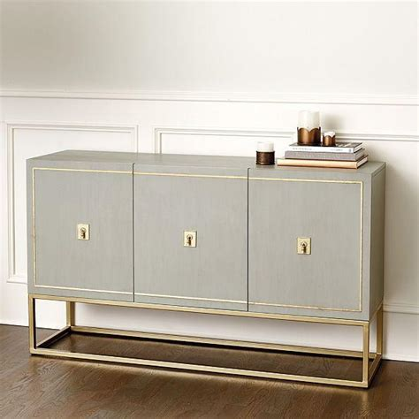 Harper Gray Gold Sideboard Gold Buffet Table