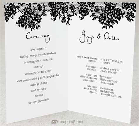 wedding programs templates 2 modern wedding program and templates2 modern wedding