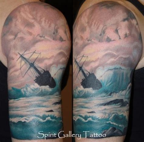 tattoo inspiration ocean idea for my survivor tattoo in the foreground a