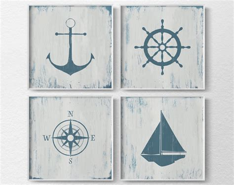 Nautical Decor Nautical Nursery Nautical Wall Art Rustic Nautical Nursery Wall Decor