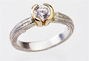 original wedding ring unique engagement rings wedding bands from etsy half bezel two toned onewed