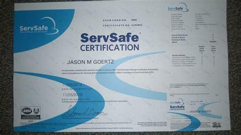 servsafe manager certificationcasanovacertificates com
