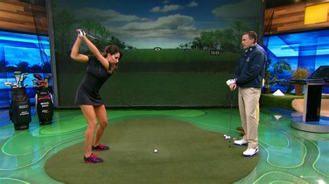 michael breed golf swing michael breed off season tips for holly sonders golf channel