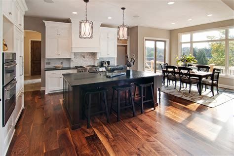 black walnut cabinets kitchen contemporary with family black walnut flooring home theater contemporary with