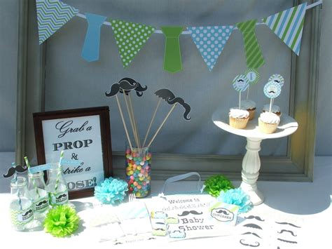 Boy Baby Shower Decorations Ideas by Boy Baby Shower Decorations Mustache Vintage