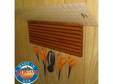 quilting ruler holder wall mounted solid mahogany 9