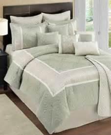 Martha Stewart Duvets Kody Sage Green Amp Ivory Queen 12 Piece Comforter Set Ebay