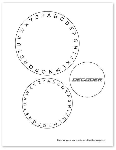 decoder card template week part 2 printable decoder all for the boys