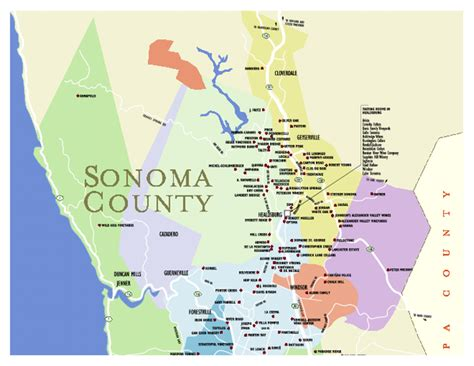 sonoma winery map map of sonoma california california map