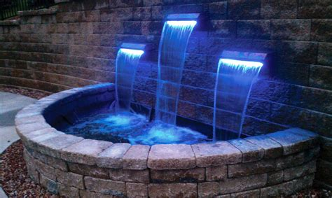 Outdoor Water Features With Lights Water Features