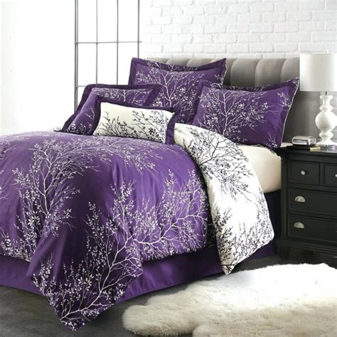 Purple And Black Bedding King bedroom bring comfort to your bedroom with cool purple