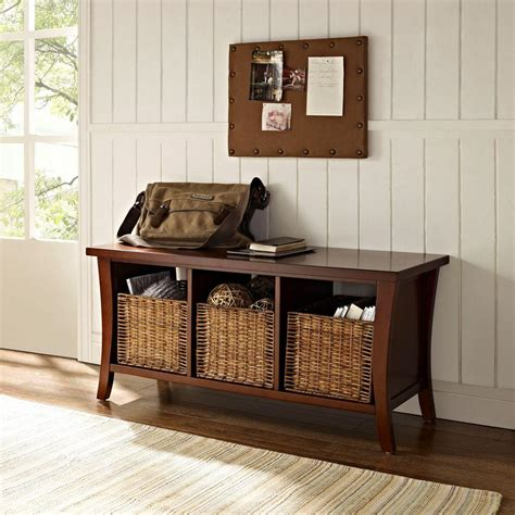 mahogany storage bench crosley wallis mahogany storage bench cf6002 ma the home depot