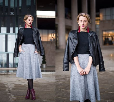 miha pull leather jacket h m midi skirt you ve