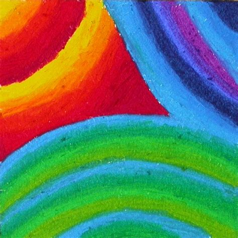 Background Design Using Oil Pastel | more oil pastel experiments gumnut inspired