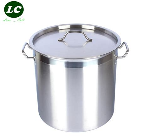 Baut L Stainless 6 X 50 free shipping 50litre water large barrel stainless steel thicking pot 40cm in buckets