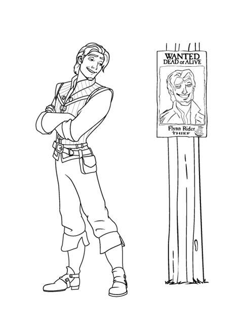 Desenho de Príncipe do filme Enrolados para colorir