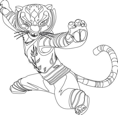 kung fu panda tigress coloring page likes this how to draw master tigress from kung fu panda 1 and 2 with