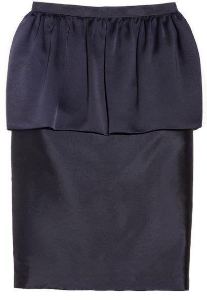 by malene birger doraona silk and woolblend peplum skirt