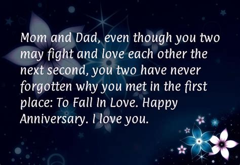 Wedding Anniversary Quotes For Parents 25th by Happy Anniversary Wishes For Parents