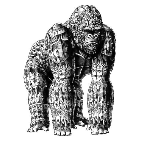 gorilla tattoo tribal silverback gorilla design
