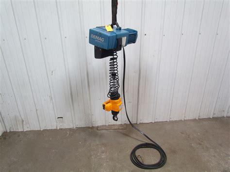 Electric Chain Hoist Chainstergt Up To 2 500 Kg demag dcm pro 2 250 1 4 ton 500 lb electric chain hoist 8 32fpm 2speed 460v ebay