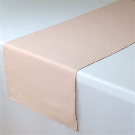 blush table runner 14 x 108 inches blush wedding table