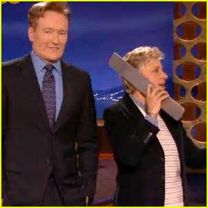 Ellen Degeneres 12 Days Of Giveaways 2014 - ellen degeneres surprises conan crowd during 12 days of giveaways parody