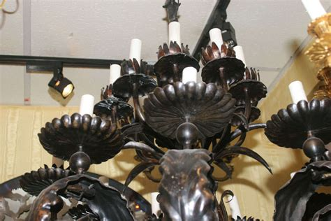arts and crafts style chandeliers large arts and crafts style patinated bronze chandelier