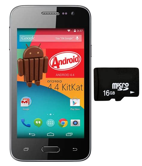 android kit vox kick k5 android kit 3g smartphone with 16gb card screen guard black price in india