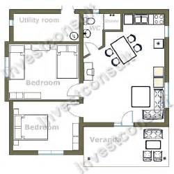 two bedroom house floor plans builder in bourgas bulgaria investconsult