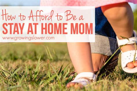affording motherhood thrive financially as a stay at
