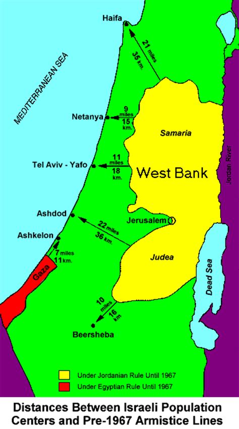 middle east map west bank factsofisrael page