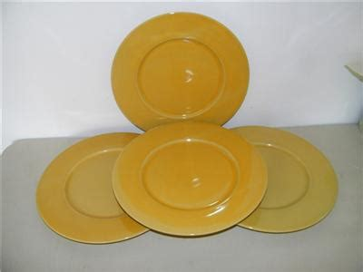 yellow plate chargers 4 jars basique yellow charger plate dinner large 130756