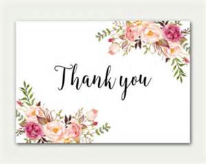 flat thank you card etsy
