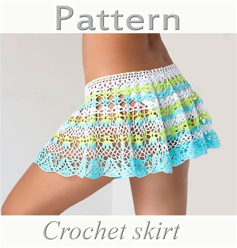 skirt pattern pdf pattern crochet beach skirt pdf lace cover up by