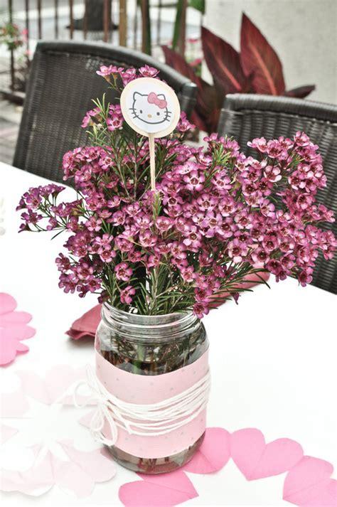 simple diy wedding flower centerpiece  pink wax