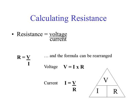 resistance calculator voltage and current chapter 11 current electricity ppt