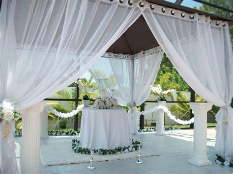 Outdoor Gazebo Curtains Patio Pizazz Outdoor Gazebo White Wedding Drapes Price