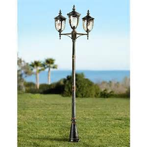 outdoor light posts bellagio collection 96 quot high bronze 3 light post light