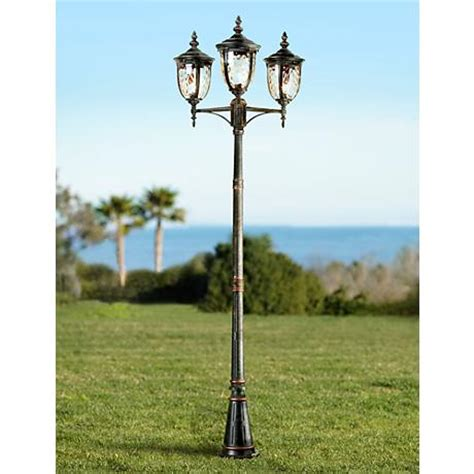 Solar Coach Lights Australia Bellagio Collection 96 Quot High Bronze 3 Light Post Light