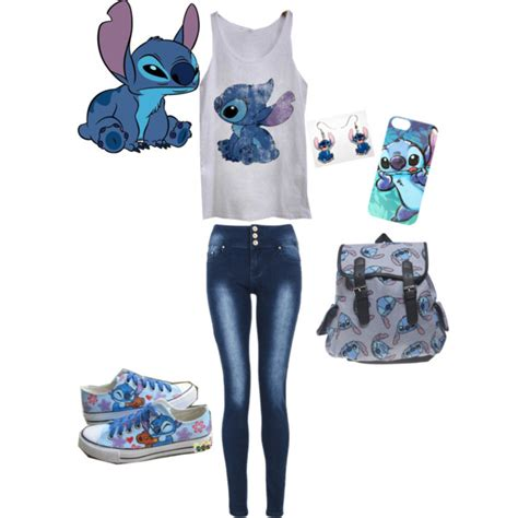 themes clothing disney stitch themed outfit polyvore fashion