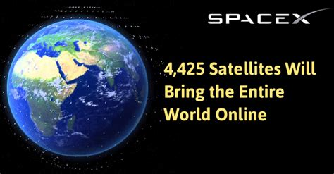 elon musk free internet elon musk plans to launch 4 425 satellites to provide