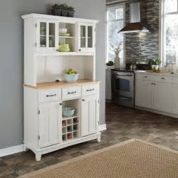 Kitchen Buffet And Hutch Furniture White Hutch Buffet With Wood Top Storage Furniture Cabinet