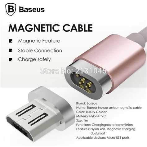Cas Magnet Charger Magnetic Micro Usb Charging Cable Smartphon 1 baseus magnetic micro usb cable adapter data sync charging cable for iphone 5s se 6s plus
