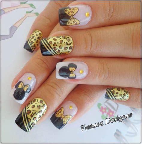 imagenes de uñas decoradas juveniles 2015 u 241 as acrilicas decoradas de minnie mouse