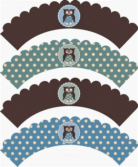 free printable owl cupcake wrappers owls free printable mini kit uil baby shower