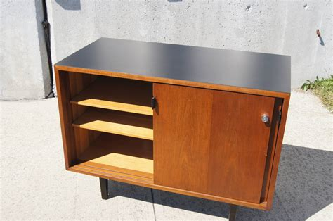 small credenza small walnut cabinet by florence knoll for knoll for sale