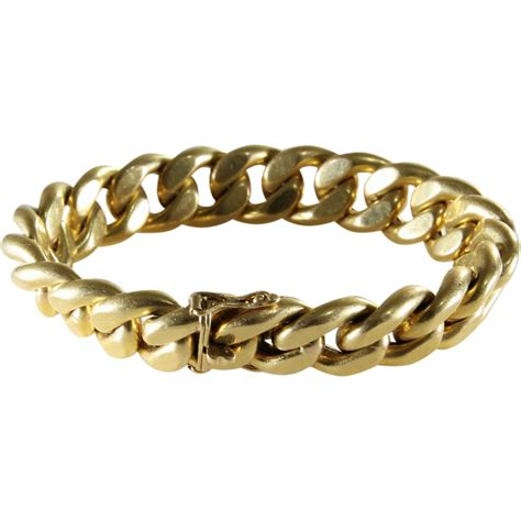 Link Bracelet   18K Yellow Gold   Vintage France PC Paris
