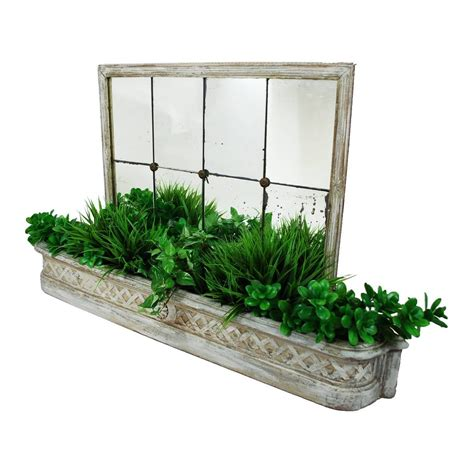 Mirrored Planters by Antique Painted Planter Mirrored Jardiniere For